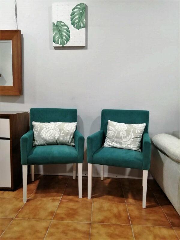 Cadeirao Simply de Bracos Azul