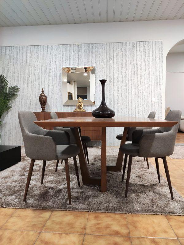 Mesa de Jantar em Nogueira para 6 a 8 Pessoas 2 scaled