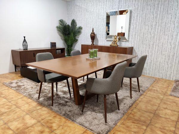 Mesa de Jantar em Nogueira para 6 a 8 Pessoas 4 scaled
