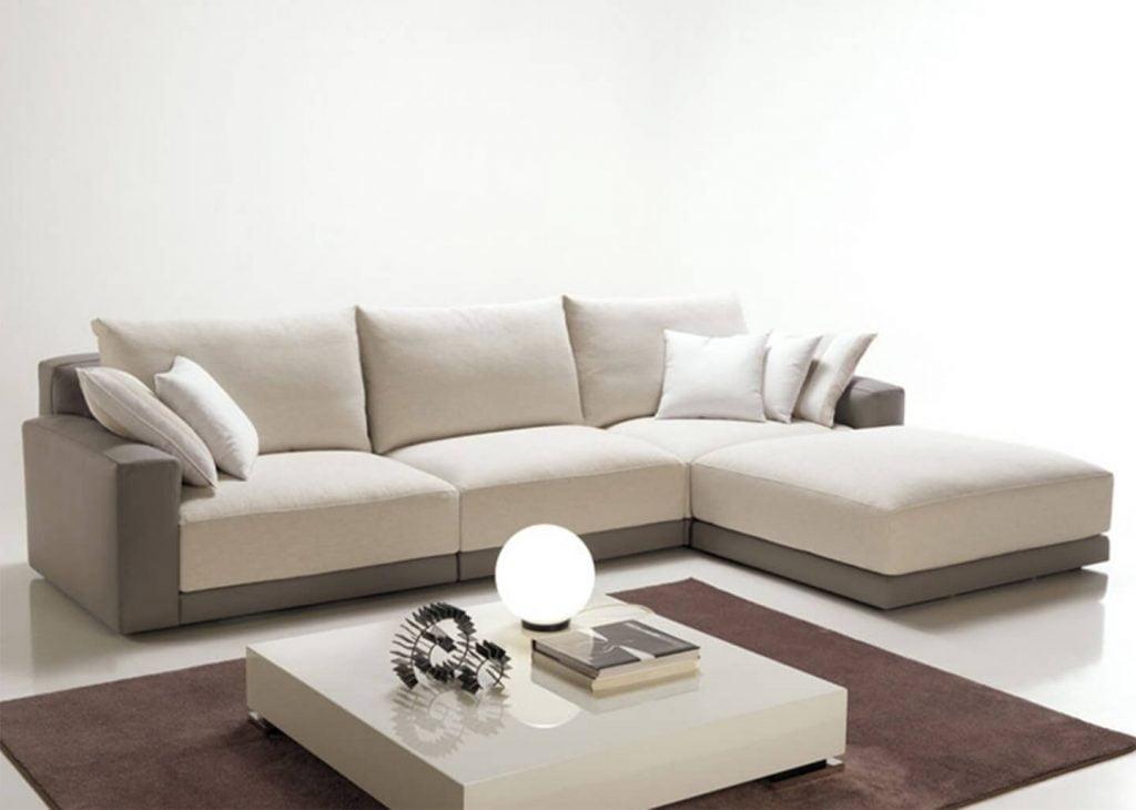 Tricolor Sofá Chaise Lounge - Sofás por Medida Crispalmóvel