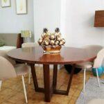 Mesa de Jantar Redonda Cruzada - ref MesaJ003 (2)