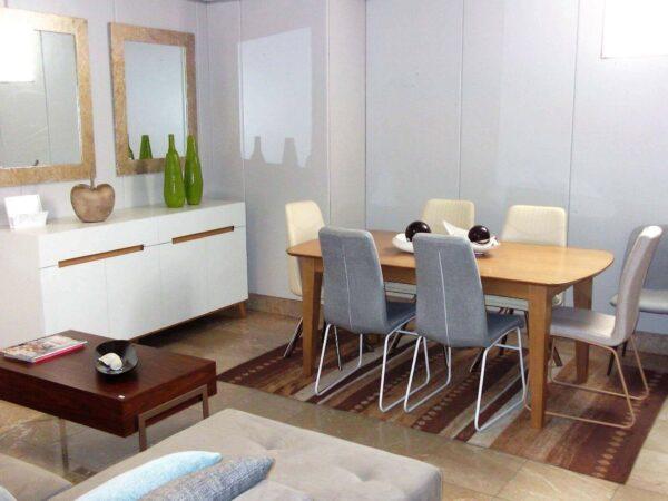 Sala Jantar Nórdica -Mesa Jantar ref MesaJ005 e Aparador ref Aparador008BR