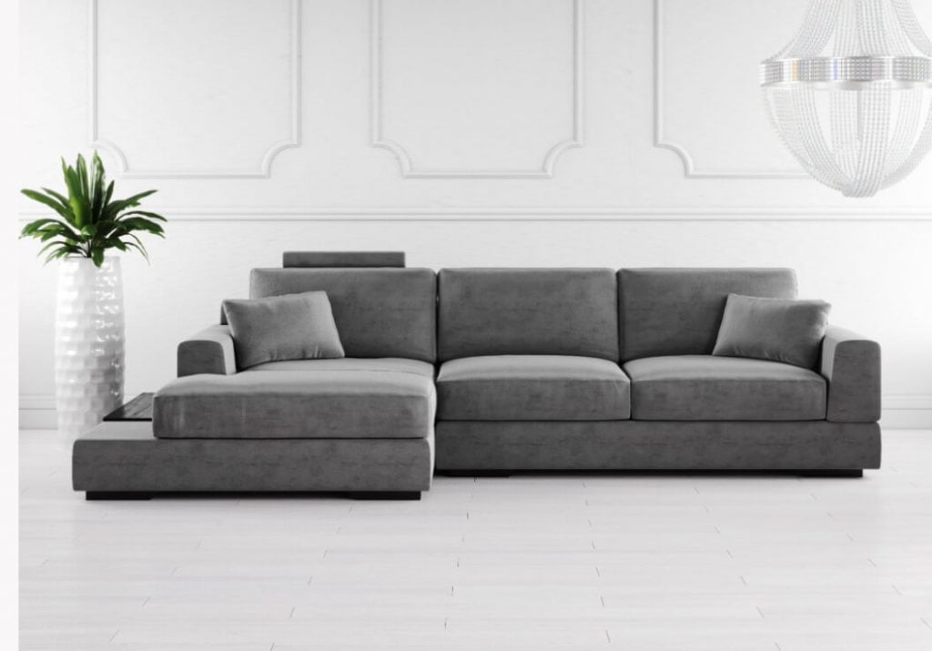 Sofa Chaise Danil ref SofaChaise005 - Sofás por Medida Crispalmóvel
