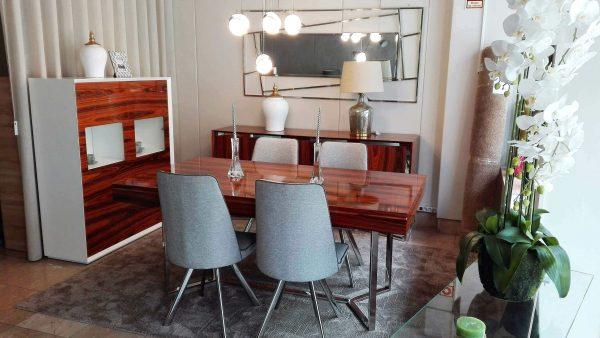 Sala de Jantar Carina Inox - Móveis por Medida Sala de Jantar - Crispalmóvel Loja de Móveis e Decoração no Porto e em Guimarães