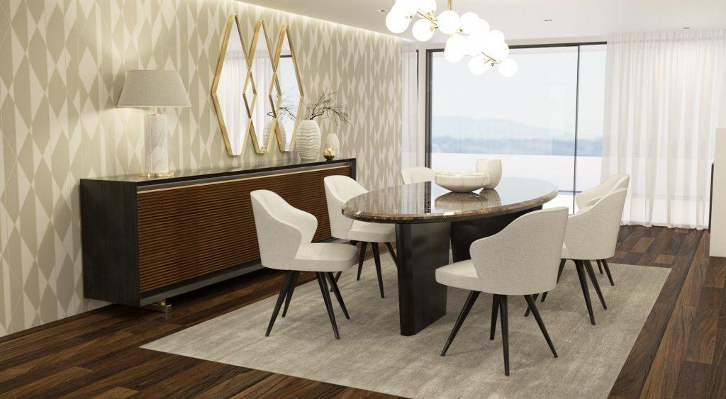 Sala de Jantar Ripacar - Móveis por Medida Sala de Jantar - Crispalmóvel Loja de Móveis e Decoração no Porto e em Guimarães