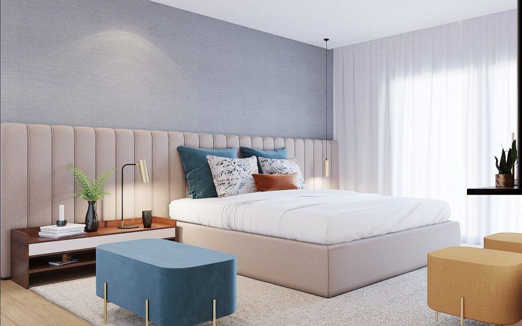 Cama de casal estufada quartos de casal Crispalmovel loja de moveis e decoração Porto e Guimaraes