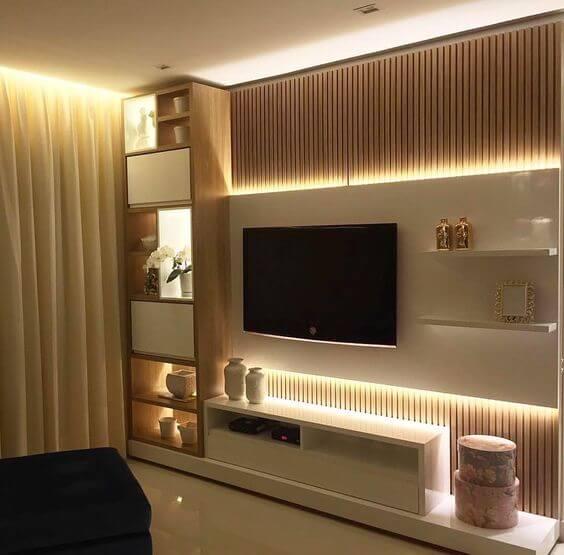 Fugi Estantes e Móvel Tv - Móveis Sala de Estar por Medida Crispalmóvel