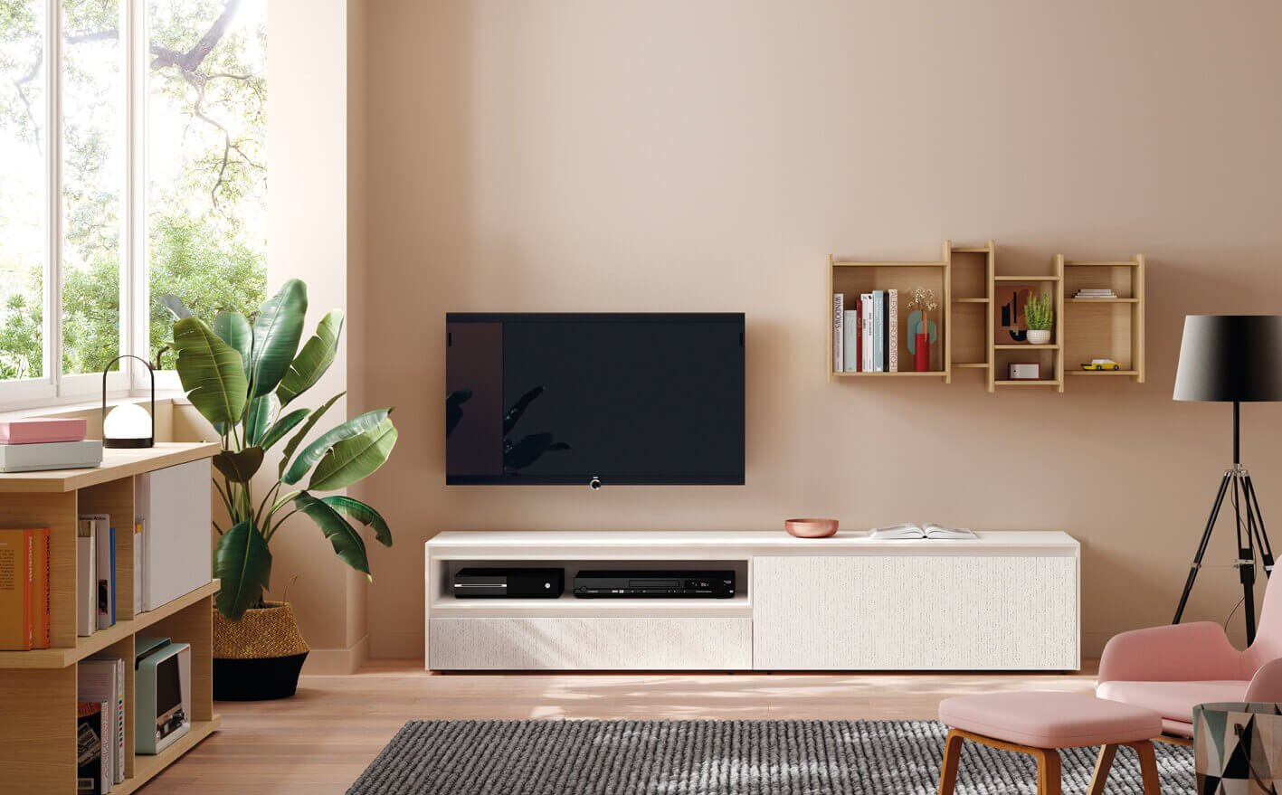 Petite Estante e Móvel Tv - Móveis Sala de Estar por Medida Crispalmóvel
