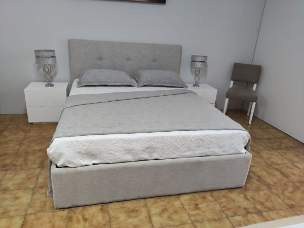Cama de Casal Simple Bege 11 scaled