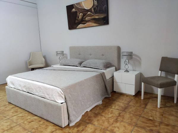 Cama de Casal Simple Bege 4 scaled