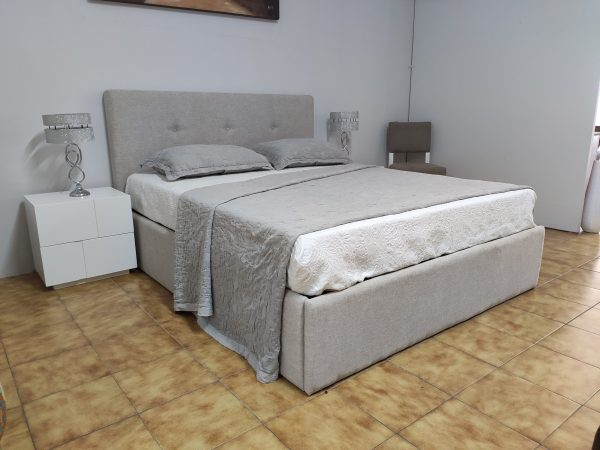 Cama de Casal Simple Bege 9 scaled