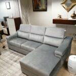 Chaise Lounge Veludo Cinza Miami