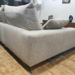 Chaise lounge Tecido Bege com chaise lado esquerdo Bimba 3