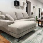 Chaise lounge Tecido Bege com chaise lado esquerdo Bimba 6