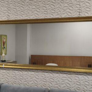 Espelho Rectangular Grande Moldura Dourada 2 scaled
