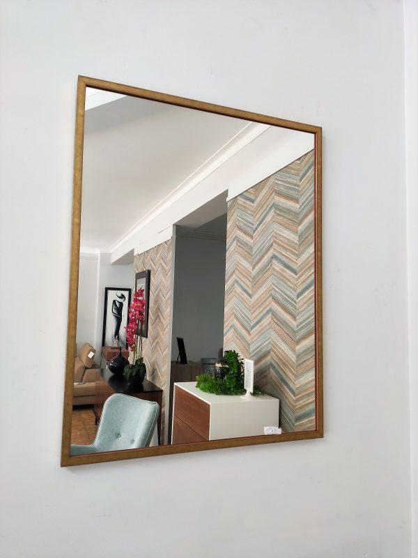 Espelho Rectangular Moldura Madeira Dourada 1 scaled