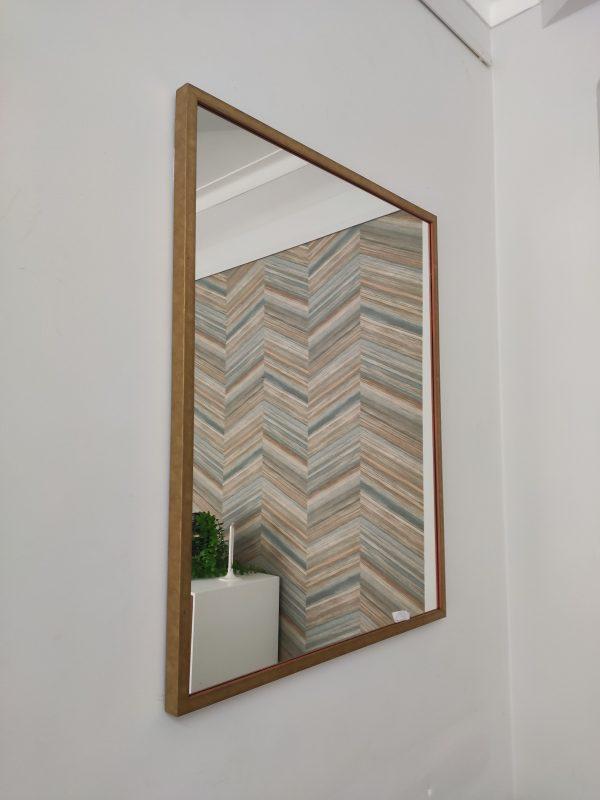 Espelho Rectangular Moldura Madeira Dourada 3 scaled