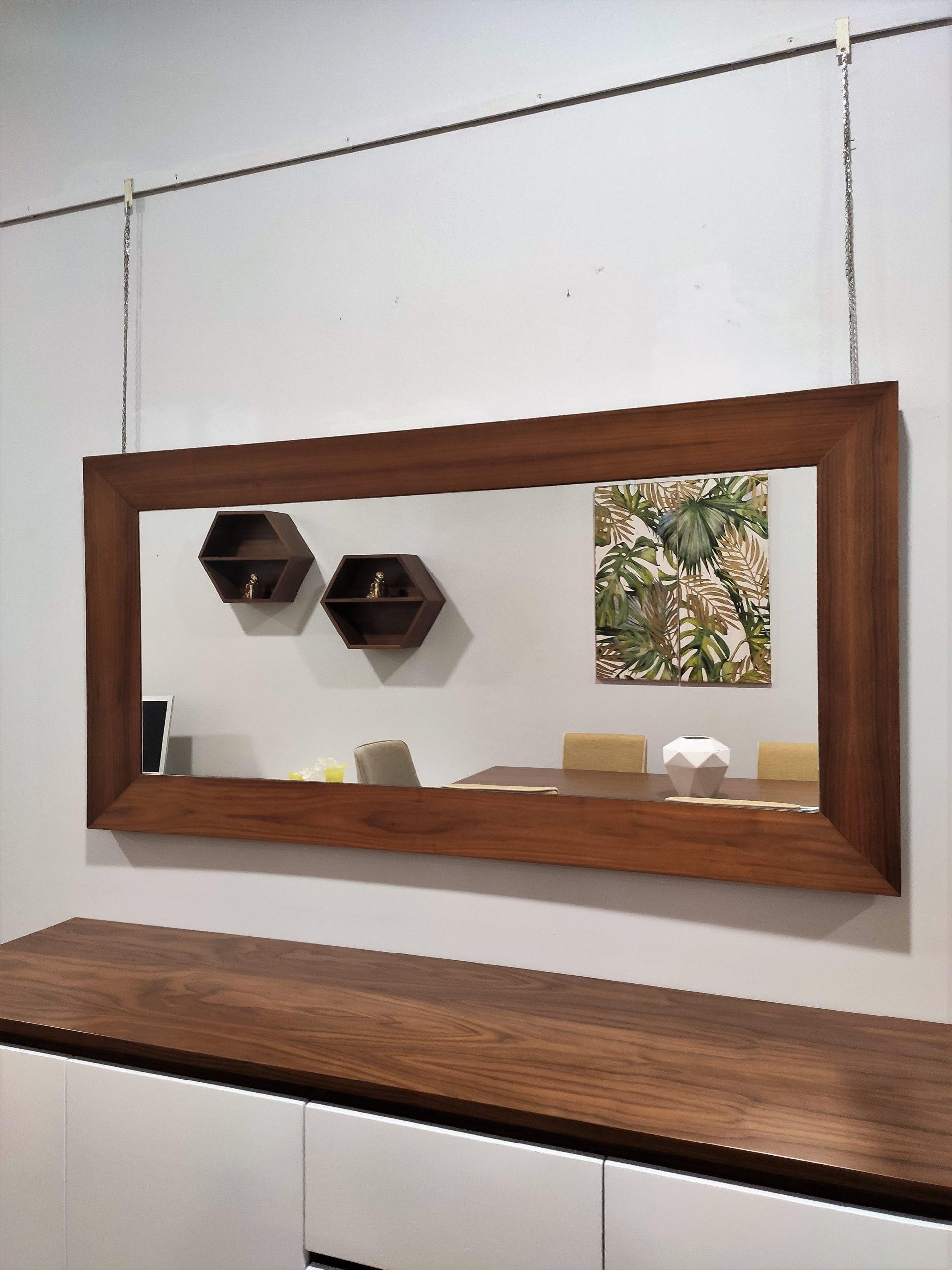 Espelho Rectangular Rebordo Nogueira 2 scaled