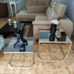 Mesa de Apoio Dourada com Tampo em Espelho 4 scaled