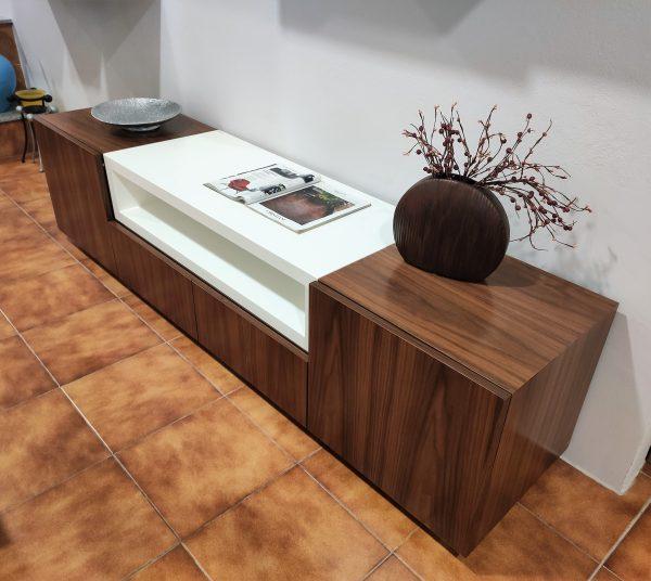 Movel Tv Cubico Nogueira com Branco 4 scaled
