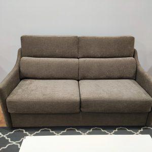 Sofa Cama 2 Lugares Castanho Bracos Estreitos 1