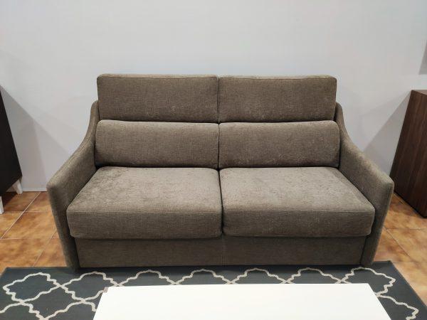 Sofa Cama 2 Lugares Castanho Bracos Estreitos 1 scaled