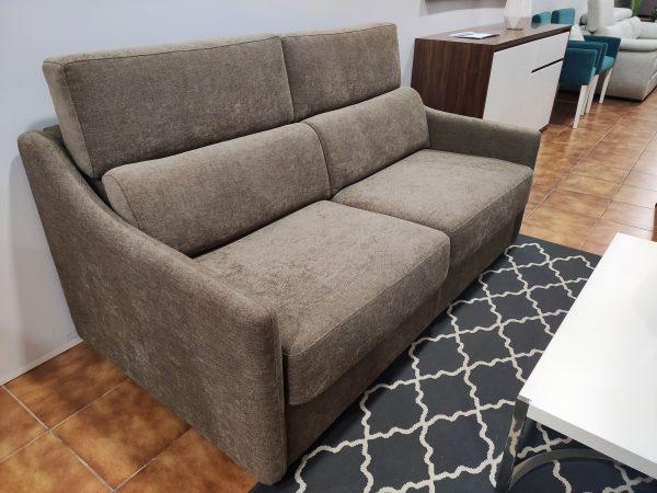 Sofa Cama 2 Lugares Castanho Bracos Estreitos 2 scaled