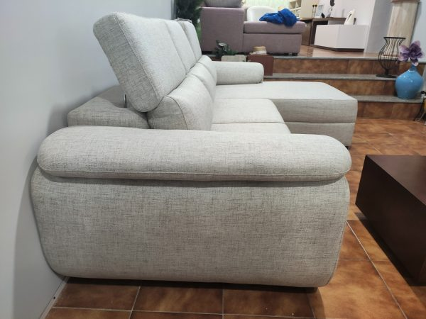 Sofa Chaise Lounge Bege Relax 3 scaled