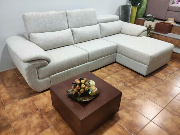 Sofa Chaise Lounge Bege Relax 5 scaled