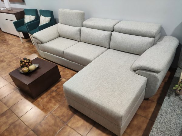 Sofa Chaise Lounge Bege Relax 6 scaled