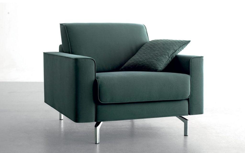 Sami Cadeirao Sofa Reto Tecido Pe Inox Cadeiroes por Medida