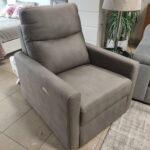 Cadeirao Poltrona Eletrico Relax Tecido cor Taupe 1 scaled