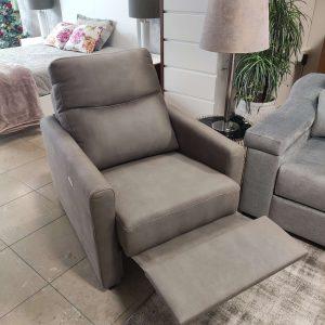Cadeirao Poltrona Eletrico Relax Tecido cor Taupe 3