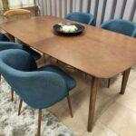 Mesa Rectangular Extensivel Carvalho cor chocolate pontas curvas Nordica 6 scaled