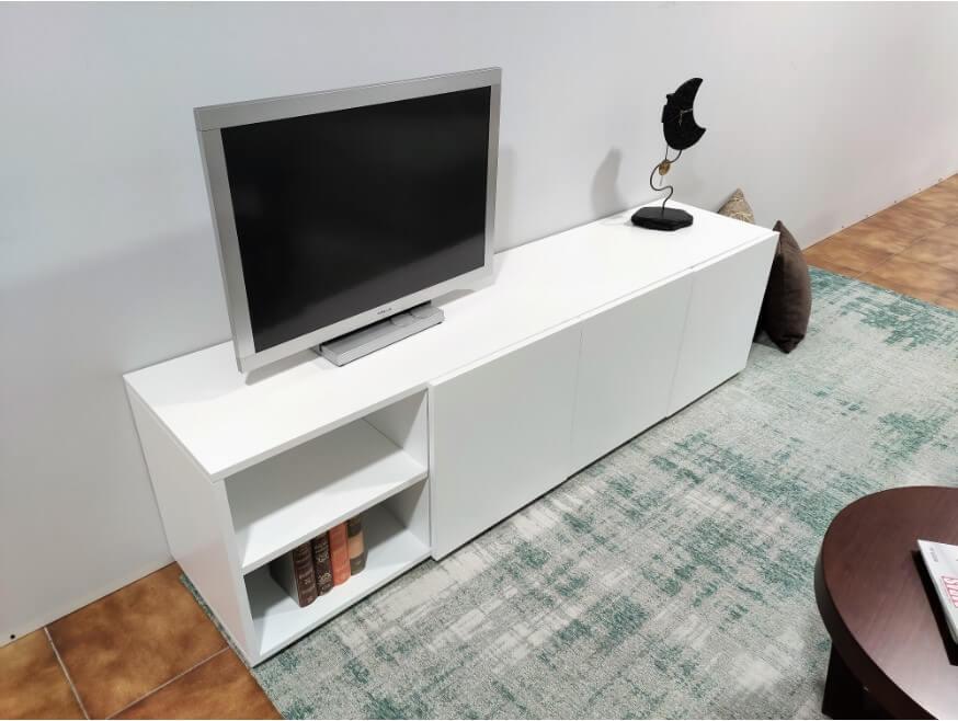 Movel Tv Bianca Lacado a Branco 1