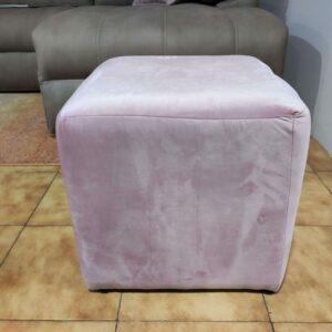 Puff Quadrado Veludado Rosa 3 scaled