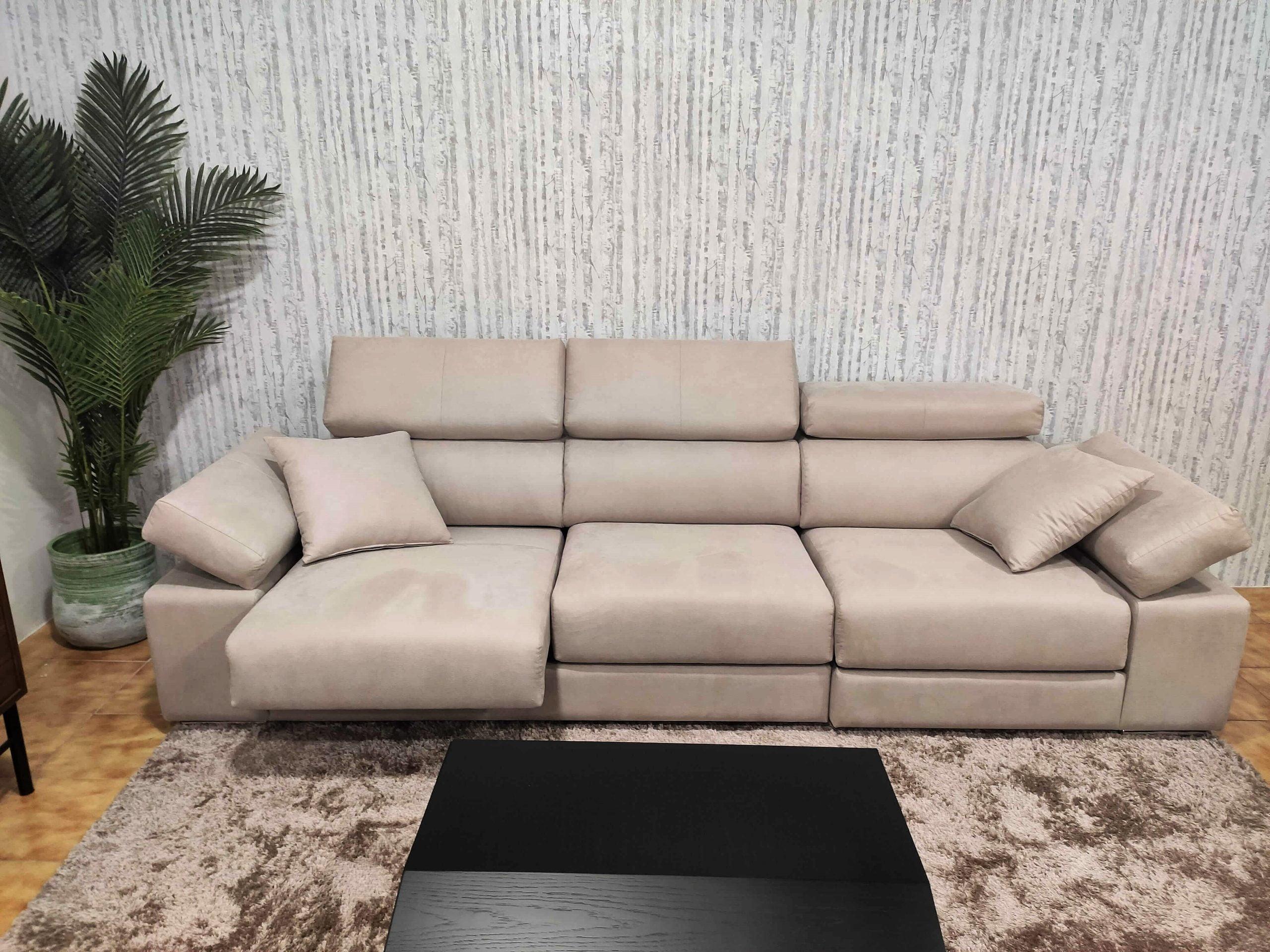 Sofa de 3 Lugares Relax A12 em tecido microfibra com encostos de cabeca e bracos reclinaveis e assentos deslizantes 2 scaled