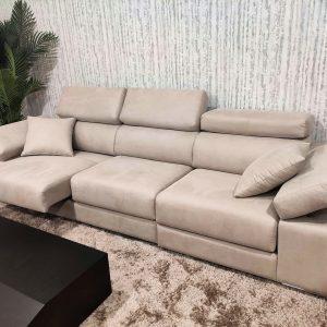 Sofa de 3 Lugares Relax A12 em tecido microfibra com encostos de cabeca e bracos reclinaveis e assentos deslizantes 4