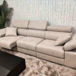 Sofa de 3 Lugares Relax A12 em tecido microfibra com encostos de cabeca e bracos reclinaveis e assentos deslizantes 4 scaled