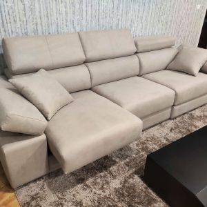 Sofa de 3 Lugares Relax A12 em tecido microfibra com encostos de cabeca e bracos reclinaveis e assentos deslizantes 5