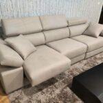 Sofa de 3 Lugares Relax A12 em tecido microfibra com encostos de cabeca e bracos reclinaveis e assentos deslizantes 5 scaled