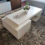 Mesa de Centro Catarine Lacada a branco com gaveta 3 scaled