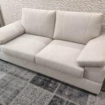Sofa de 2 Lugares Tecido Branco Lisboa 3 scaled