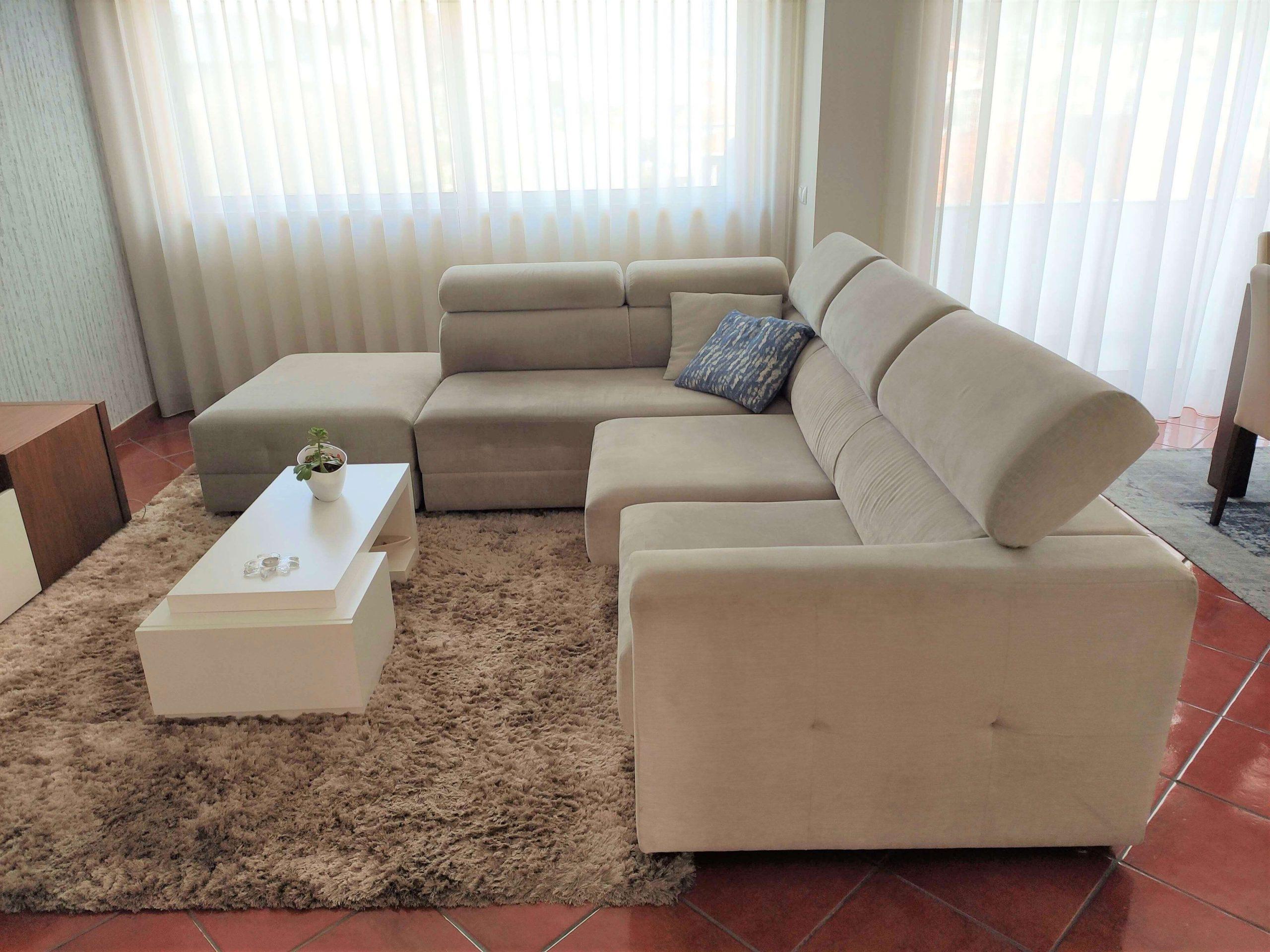 Sofa de Canto RelaxBoton Tecido Bege apoio de cabeca ajustavel e assentos deslizantes 2 scaled