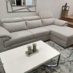 Chaise Lounge relax Oasis com chaise lado direito em tecido mescaldo branco com ajuste de apoio de cabeca Crispalmovel 4