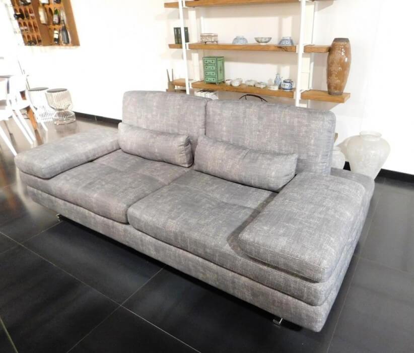 Serena Sofa de 3 Lugares Cinza com Sistemas Relax Inov Encostos e Apoio de Bracos Reclinaveis 4