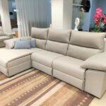 Chaise Lounge Relax Sistema Eletrico Elvas Tecido Microfibra Cinza Claro Crispalmovel 1