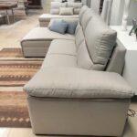 Chaise Lounge Relax Sistema Eletrico Elvas Tecido Microfibra Cinza Claro Crispalmovel 4