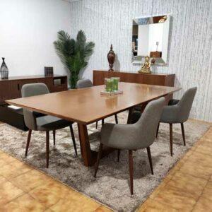 Mesa de Jantar Grande em Carvalho para 6 a 8 pessoas 4