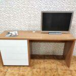 Secretaria em madeira e gavetas brancas Hart 4